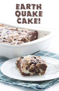 This crazy mixed up keto earthquake cake is truly delicious stuff! An easy low carb cake to whip up, and a hit with all who try it. I know what's going to happen here. Call me clairvoyant or something but I know that the minute I publish this recipe, I am going to be inundated with questions. Because I myself have the very same question that I bet about 50% of you are going to ask: why is this delicious low carb chocolate and cream cheese cake called 'Earthquake Cake'??? So I am h...