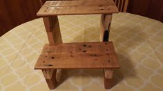 Extremely stylish and useful step stool for any household with small children! Etsy listing at https://www.etsy.com/listing/462562165/handmade-reclaimed-wood-step-stool