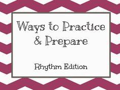 Kodaly Corner: Ways to Practice and Prepare Rhythms