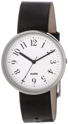 Men's Wrist Watches - Alessi Mens AL6000 Record Stainless Steel Designed by Achille Castiglioni Watch * Click on the image for additional details.