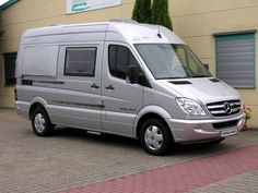HRZ Beach, a really compact Sprinter camper that sleeps two.