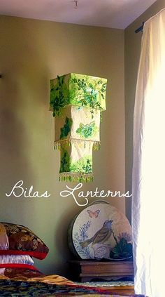 Glamorous Green embroidered sequin Lantern by BilasLanterns, $170.00