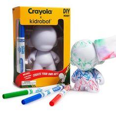 "Crayola 4"" Munny DIY Vinyl Figure by Kidrobot - Kidrobot"