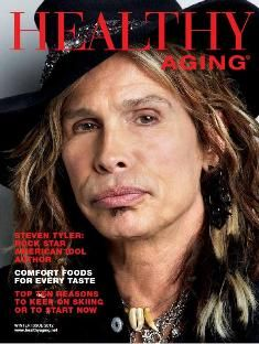 Steven Tyler is featured in Healthy Aging Magazine as someone who proves we can all take personal responsibility for our own health, leads by example that you can continue to follow your passion at any age.