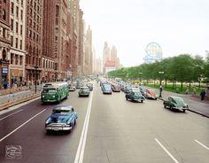 Michigan and Monroe 1940s, Chicago.
