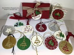 Time to wrap those gifts! And what better finishing touch than a homemade tag?! Merry Tags Framelits and Merriest Wishes Stamp Set ma...