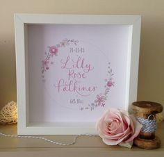 Baby Girl Personalised Calligraphy Nursery Art by NikkiWhistonInks