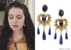 In the nineteenth episode Mary wears these sold out Oscar de la Renta Gold-Plated Lapis Lazuli Earrings.