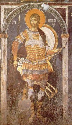 Ο ΑΓΙΟΣ ΝΗΚΗΤΑΣ late Byzantine fresco