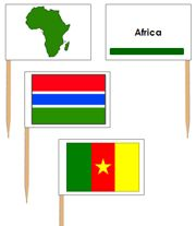 Flags of Africa for Pin Maps (printed maps that are marked using pin flags)