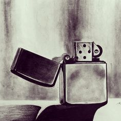 Zippo lighter fan art by Instagram user @ teq_u_req    Click through to see this photo and his other amazing art!