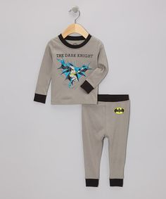 Take a look at this Gray 'The Dark Knight' Pajama Set - Infant & Toddler by Batman on #zulily today!
