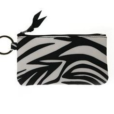 ZEBRA ID CASE / EVERYTHING BAG Charm14. $9.99. This purse can hold many of your personal items such as a cell phone, ipod, small camera, lipstick, keys and more. Size is 5.75 x 3.25 x 0.5. Material is amicro fiberwhich allows for easy cleaning.