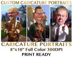 Custom Caricature Portrait Available Now @ Rodney Pike Humorous Illustrator