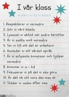I-vår-klass-cc. Classroom Behavior, Classroom Management, Learn Swedish, Swedish Language, English Verbs, Teaching Schools, School Decorations, Classroom Inspiration, Preschool Worksheets