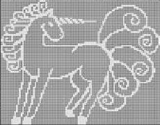 Unicorn Chart: Free #crochet unicorn pattern