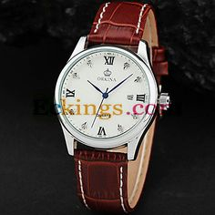 Men'S White Black Crystal Dial Pu Leather Band Date Quartz Analog Wrist Watch : Online Shopping for Watches, Toys & more