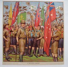 1930's British Baden Powell Boy Scout Jamboree Vintage Children's Post