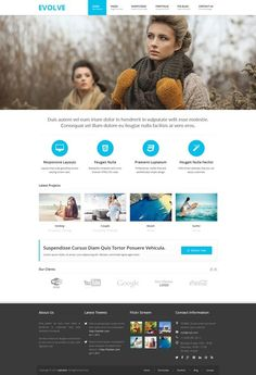 12 new best Responsive websites themes of 30th November 2014. #webdesign #Monday #inspiration