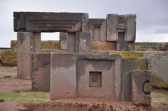 puma punku - one of the world's most interesting mysteries. 45 miles west of La Paz, Bolivia 12,800 feet high in the Andes Mountains.