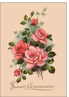 Carte Bouquet heureux anniversaire pour envoyer par La Poste, sur Merci-Facteur !  note perso: T ROS