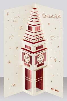 Pop up Big Ben holiday card Discover and buy awesome creative products on The Bazaar