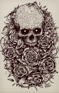 Roses by timur khabirov, via Behance
