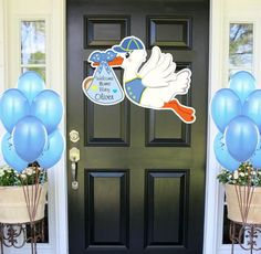 Welcome Home Baby Sign Stork Decoration Signs Its a Boy