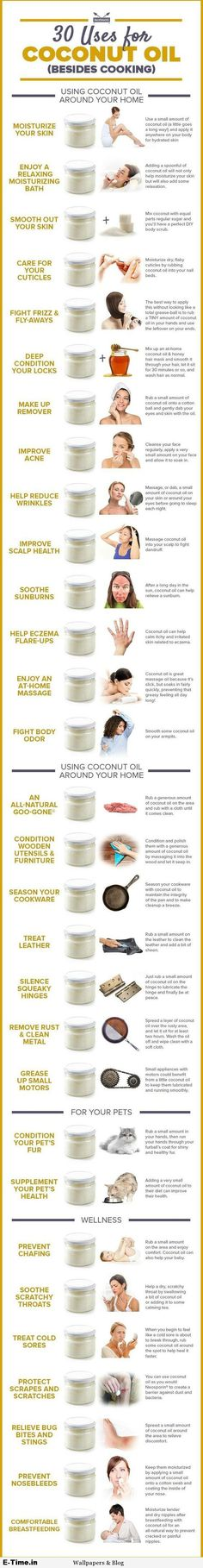 30 Uses For Coconut Oil Besides Cooking