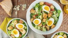 Pan-Fried Egg Salad // joy the baker Potato Salad Mustard, Potato Salad With Egg, Egg Salad, Classic Caesar Salad, Joy The Baker, Salad Recipes Video, How To Cook Eggs, Edamame, Kiwi