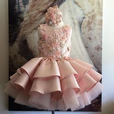 VICTORIA COUTURE ATELIER 2016 Girls Fancy Dresses, Blush Flower Girl Dresses, Girls Designer Dresses, Baby Girl Party Dresses, Gowns For Girls, Frocks For Girls, Glam Dresses, Kids Frocks, Little Girl Dresses