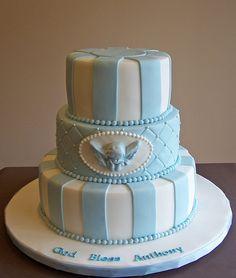 Baptism cake for baby boy N