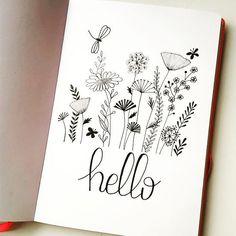 I wish you a beautiful Sunday . bujo I wish you a beautiful Sunday . Bullet Journal Ideas Pages, Bullet Journal Layout, Bullet Journal Inspiration, Journal Pages, Journals, Doodle Drawings, Easy Drawings, Doodle Art, Flower Doodles