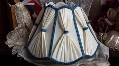 Traditional Scalloped Fabric Lampshade by NostalgiqueBoutique