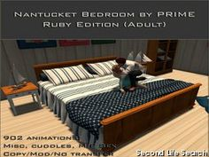 PrimBay - Nantucket bed RUBY edition - by PRIME
