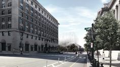 KAMJZ Proposes to Preserve Pershing Park with an Overhead Memorial,Courtesy of KAMJZ Architects