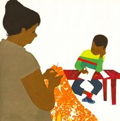 """artwork from Ezra Jack Keat's"""" A Letter To Amy"""" One of my favorites."""