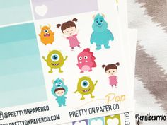 Monsters Inc. Stickers