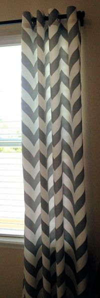 Chevron Curtains Custom Drapes Panels Zippy Storm by SewPanache, $170.00