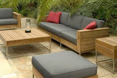Minimal wood garden furniture