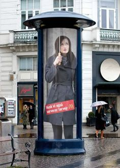 12 Clever Ads on Street Poles and Pillars - Oddee.com (street ads, street advertising)