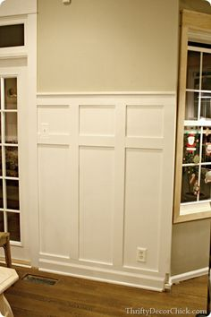Board and batten tutorial want this in the family room!