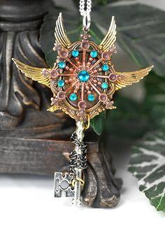 *+*Mystickal Faerie Folke*+* ...Lost in Time Key Necklace ...By Artists@KeypersCove on Etsy...