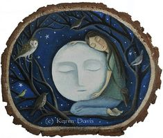 I so, so so LOVE this :)  She loved The Moon so dearly. by karendavis on Etsy