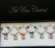 6 Pretty Parrots and More themed Wine Charms by PickinsGalore on Etsy White Beads, Silver Beads, Wine Glass Charms, Glass Beads, Wine Tags, Exotic Birds, Thank You Gifts, Pearl Beads, Little Gifts