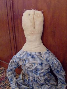 Primitive BIG Rag Doll from Netty LaCroix design.  via Etsy.