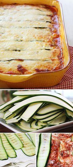 Bezlepkové lasagne z cukety - DIETA.CZ Vegetarian Recepies, Healthy Recipes, Sin Gluten, Musaka, Tasty, Yummy Food, Gluten Free Desserts, Food 52, Main Meals