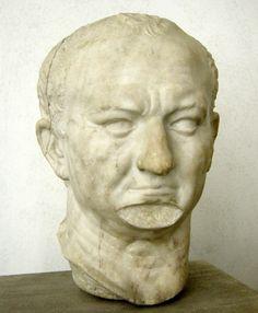 Museo Nazionale Romano, Roma. - Ritratto di vespasiano da ostia, 69-79 dc. Marmo, 40 cm