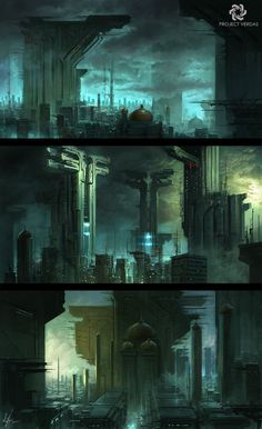 #cyberpunk #art #graphic #future #cyberpunk #art #graphic #future  Project Verdas Environments by   Michal Kus