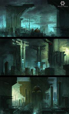 #cyberpunk #art #graphic #future #cyberpunk #art #graphic #future  Project Verdas Environments by  Michal Kus